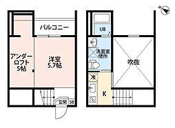 ロッククリスタル小木田[1階]の間取り