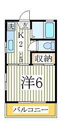 フジコーポ[2階]の間取り
