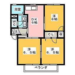 メゾンS・K・K A棟[2階]の間取り