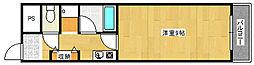 クリスタルハイツ清水丘[2階]の間取り