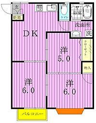 埼玉県三郷市鷹野2丁目の賃貸アパートの間取り