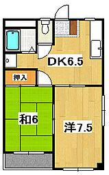 平成マンション[104号室]の間取り
