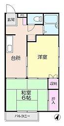コーポイイヅカII[2階]の間取り