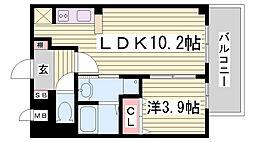 アスヴェル兵庫駅前[11階]の間取り