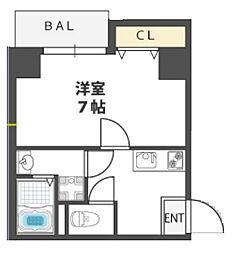 ETC福島[4階]の間取り