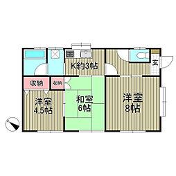 ドルフィン鎌倉II[1階]の間取り