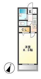 スプリングコート[2階]の間取り