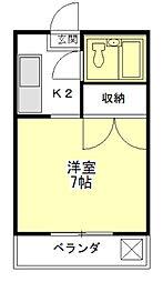 レスポワール[2階]の間取り