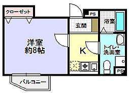 津田西TNビル[5階]の間取り