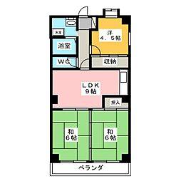 メゾン・ド・カルム[3階]の間取り