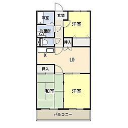 サンガーデン和知川原[2階]の間取り