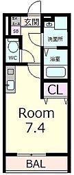 エクセル田中 W棟[2階]の間取り