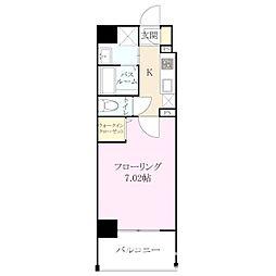 ラゾ 清川[4階]の間取り