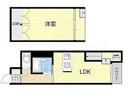 エクト3 7階1LDKの間取り