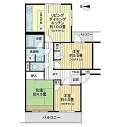 ライオンズマンション大宮三橋一丁目[3階]の間取り