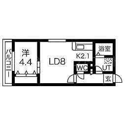 グラスマーレ[2階]の間取り