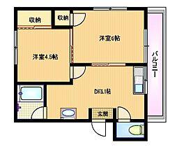 田野マンション[1階]の間取り