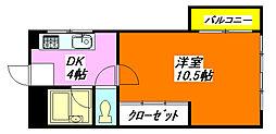 小阪・ハイツ 417号室[4階]の間取り