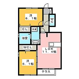 Comfort Terrace[1階]の間取り