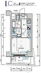 メインステージ横濱東口 7階1Kの間取り