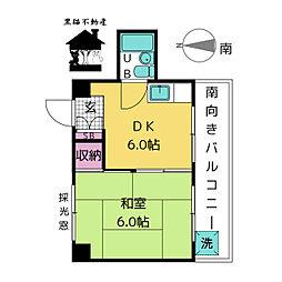 赤門サンライフマンション[6階]の間取り