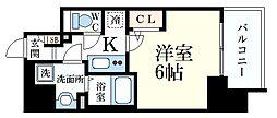 JR東海道・山陽本線 三ノ宮駅 徒歩7分の賃貸マンション 11階1Kの間取り