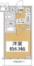 ルーブル早稲田弐番館[205号室号室]の間取り