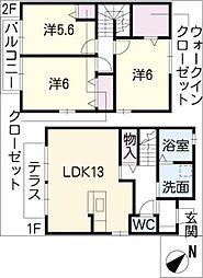 [タウンハウス] 愛知県日進市赤池4丁目 の賃貸【/】の間取り