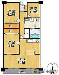 ソリーナマンション[304号室]の間取り