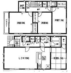 [一戸建] 茨城県つくば市春日3丁目 の賃貸【茨城県 / つくば市】の間取り