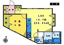 メゾン上高田 フルリノベーション即内見可 1階1LDKの間取り