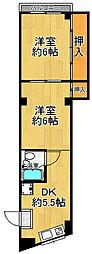 小松マンション[0301号室]の間取り