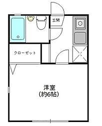 プチメゾン[1階]の間取り