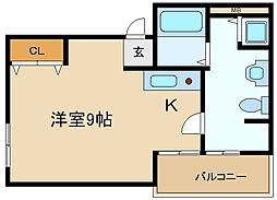 兵庫県伊丹市梅ノ木6丁目の賃貸マンションの間取り