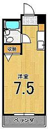 フラッツ太秦[305号室]の間取り