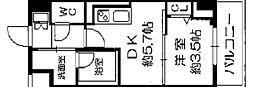 セルン新町 8階1DKの間取り