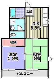 喜多ハイツ[1階]の間取り
