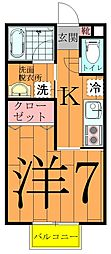 デュオーラ江戸川台[2階]の間取り