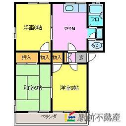 天本アパートB棟[107号室]の間取り