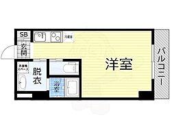 JO-KITA TERRACE 7階ワンルームの間取り