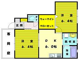 シエルクレール[1階]の間取り