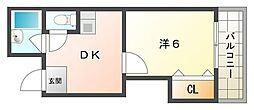 ヴィレッジコート深田[4階]の間取り