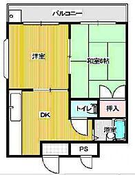 ギャレ田辺[4階]の間取り