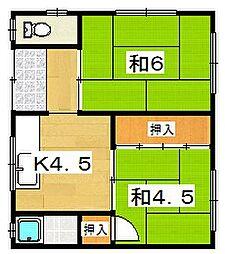 小松コーポ[2階]の間取り