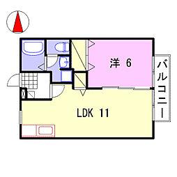 ココモハウス[202号室]の間取り
