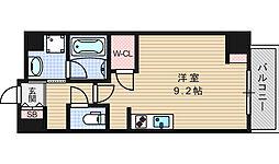 エスパシオ・コモド大阪新町[705号室]の間取り