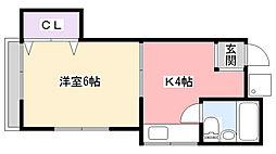第2セラミックハウス[102号室]の間取り