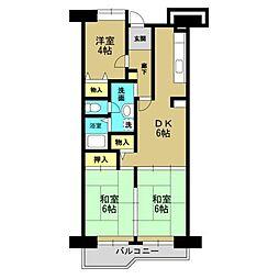 高見フローラルタウン五番街45号棟[9階]の間取り