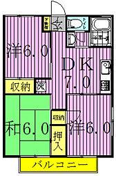 パレス・グランドールI・II[I-202号室]の間取り