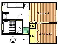 多摩ハイツ A棟[2階]の間取り